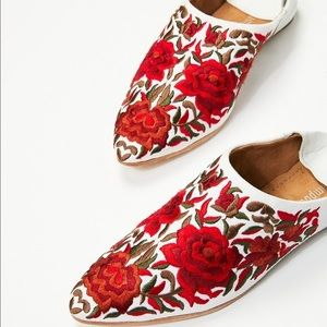 Jeffrey Campbell Vijay Floral Embroidered Mules